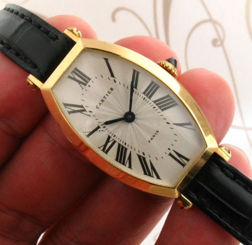 CARTIER A105674 Tonneau Alongee 18k Gold Manual Wind