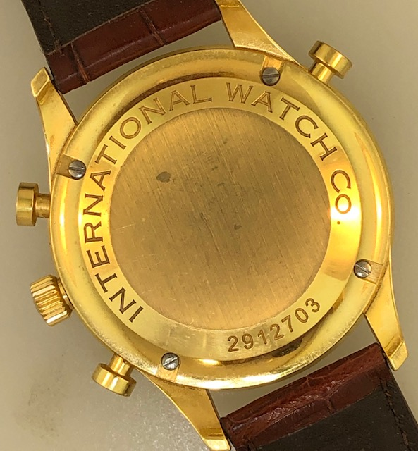IWC Portugieser Chronograph Rattrapante Yellow Gold Ref IW3712