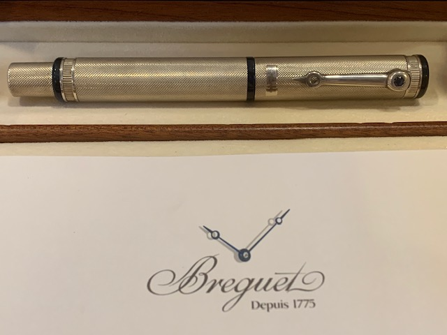 Breguet Ballpoint Pen Stainless Steel with Blue Sapphire W101AG03F