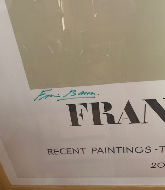 Francis Bacon Lithograph Poster Limited Edition Signed By Artist