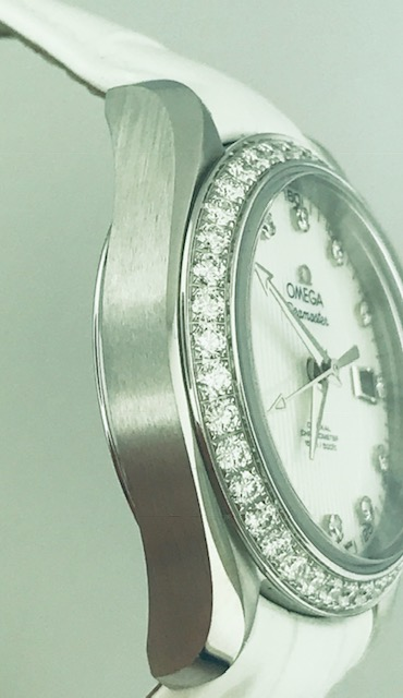 Omega Seamaster Aqua Terra Stainless Steel and Diamond Watch