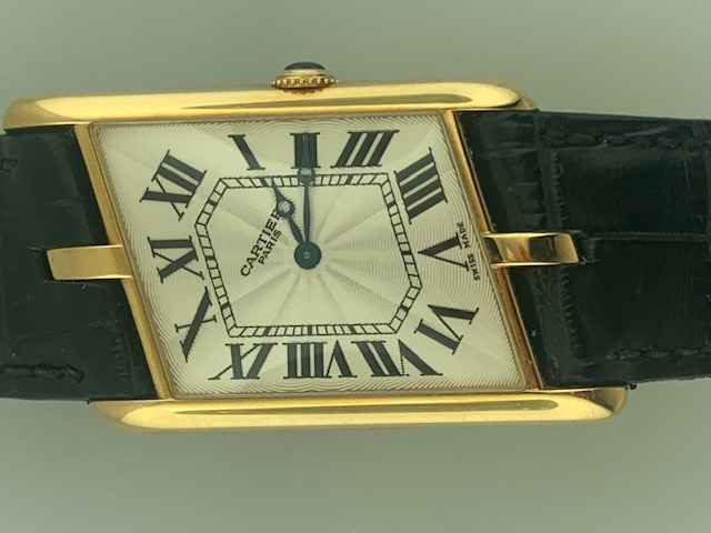 Cartier Limited Edition Asymmetrical Driver\'s Watch Yellow Gold Reference 2842
