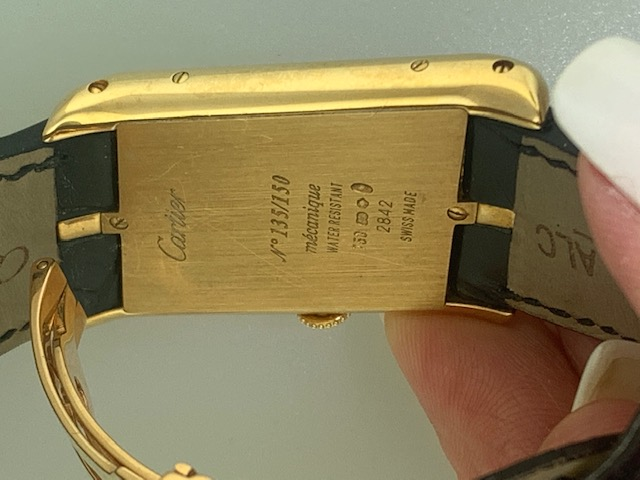 Cartier Limited Edition Asymmetrical Driver's Watch Yellow Gold Reference 2842