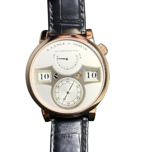 A. Lange & Sohne Zeitwerk 18KT Rose Gold 140.032- Pre-Owned Mint with Cert.