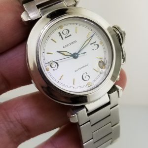 Cartier Pasha De Cartier White Dial Automatic Reference W31015M7