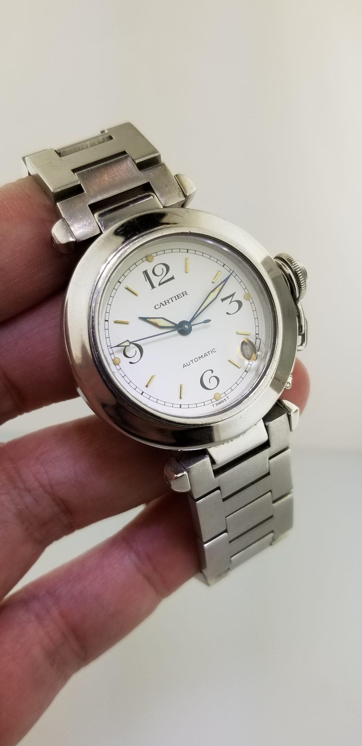Cartier Pasha De Cartier White Dial Automatic Reference W31015M7