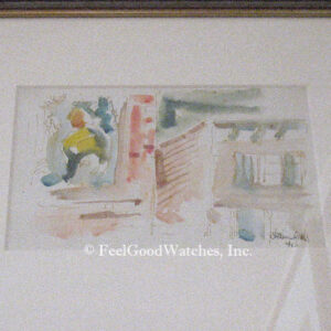 Chaim Gross Original Watercolor, ca. 1940