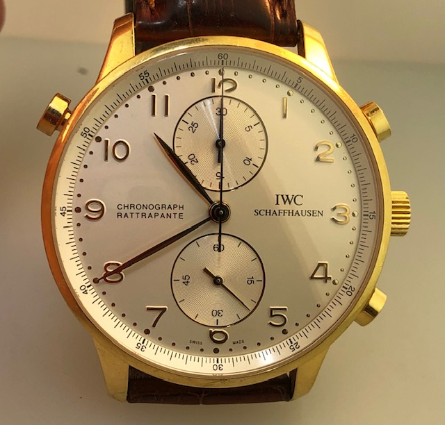 IWC Portugieser Chronograph Rattrapante Yellow Gold Ref IW3712