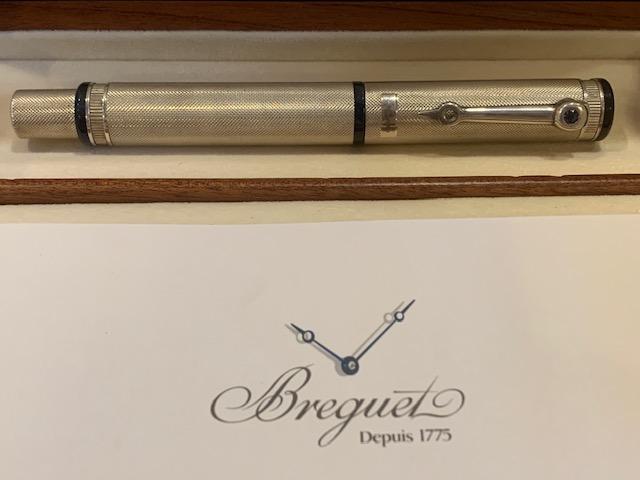Breguet Ballpoint Pen Stainless Steel with Blue Sapphire W101AG03F