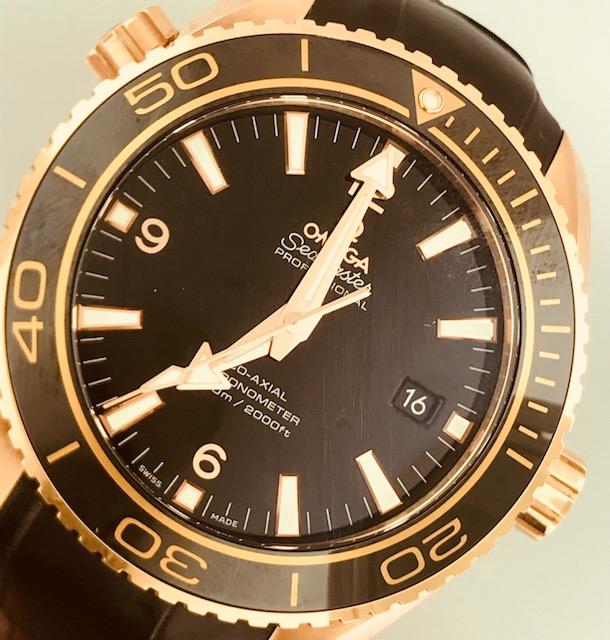 Omega Seamaster Rose Gold Chronometer Reference 232.63.46.21.01.001 Unworn