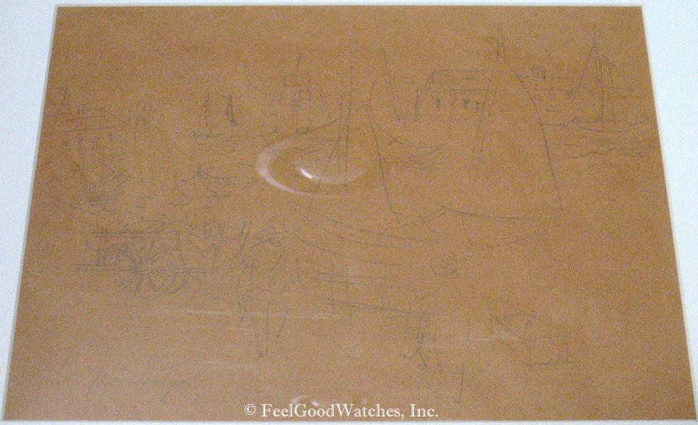 Jean Dufy Original Pencil on Paper Sketch, Undated