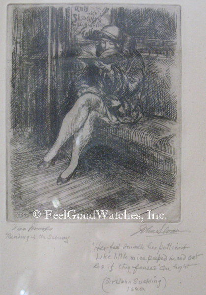 """John Sloan """"Reading in the Subway"""" Limited Edition Proof, ca. 19"""