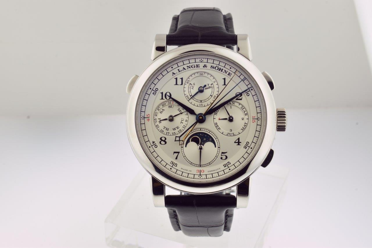 A. Lange & Sohne 1815 Rattrapante Perpetual Calendar in Platinum Reference 421.025FE