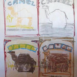 Larry Rivers Camel Quartet Limited Edition Lithograph, ca. 1978