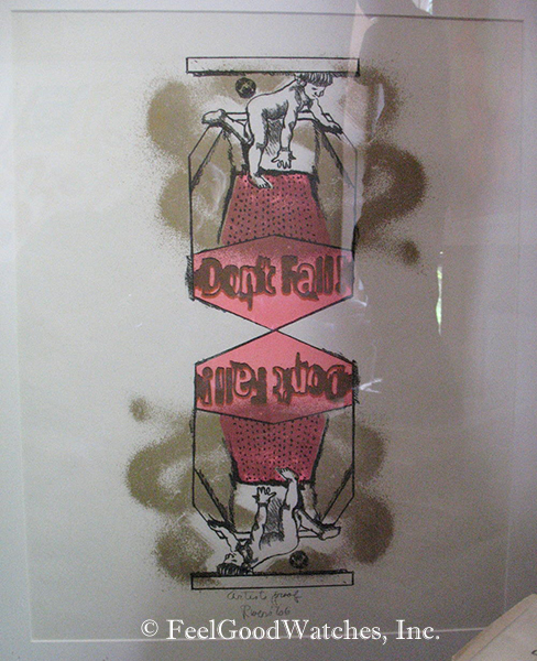 """Larry Rivers """"Don't Fall"""" Artist's Proof Lithograph, ca. 1966"""