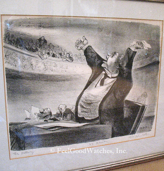 """William Gropper """"The Gallery"""" Limited Edition Print"""