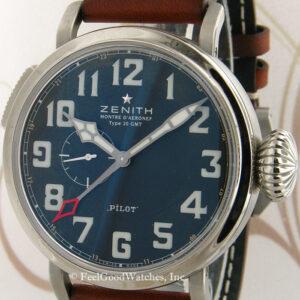 Zenith 03.2430.693 Pilot Type 20 GMT Montre d'Aeronef, Steel