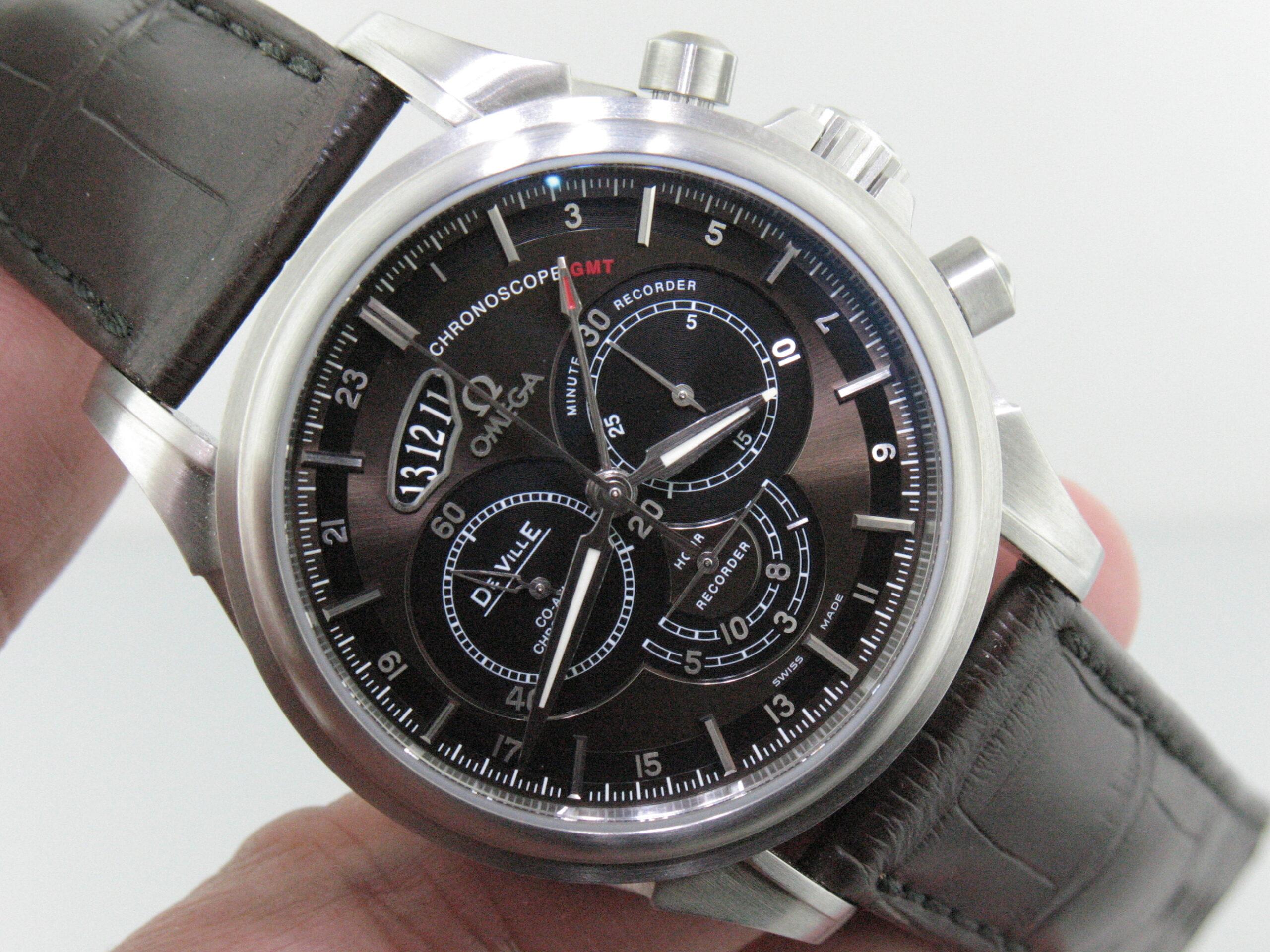Omega Deville ref 422.13.44.52.13.001 Chronoscope Stainless Steel Men's Watch