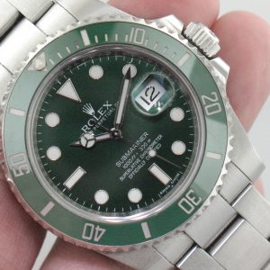 "Rolex Submariner ""Hulk"" Stainless Steel Reference 116610LV Ceramic Bezel Has Card Certificate & Box Like New"